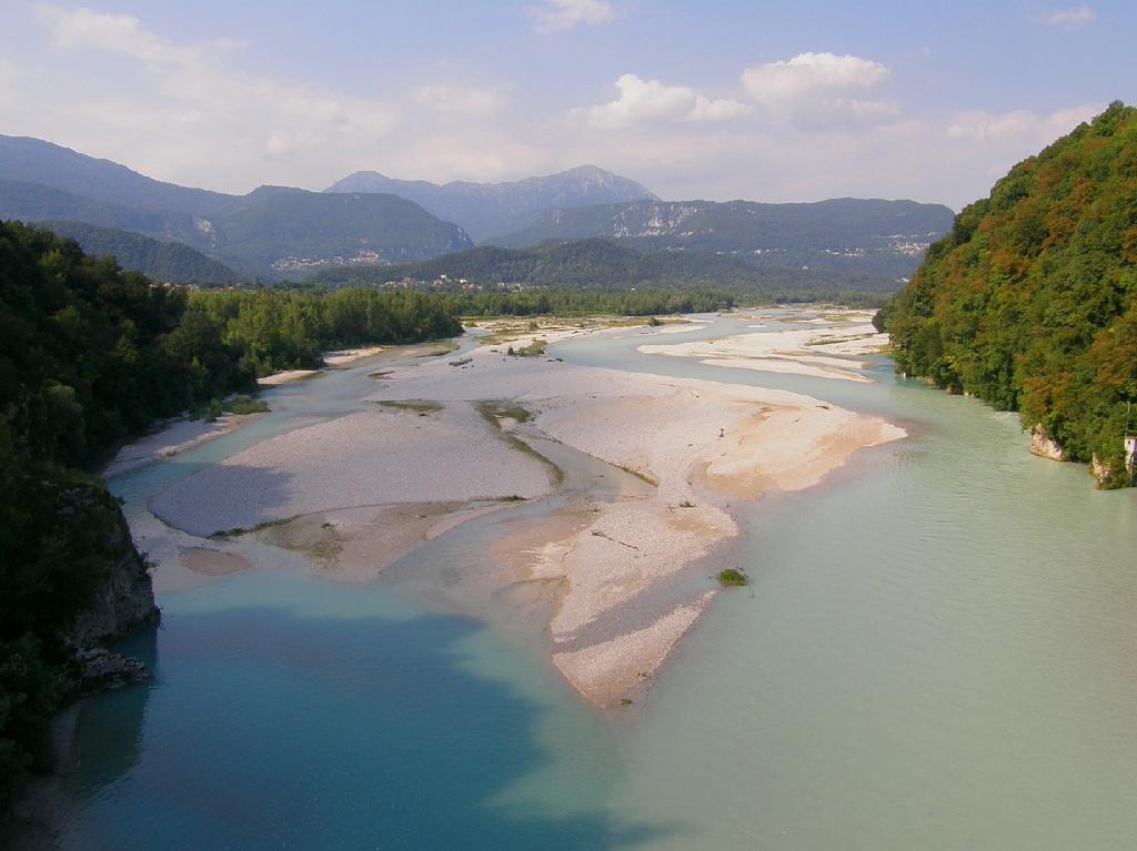 14Tagliamento dal ponte di Pinzano TF